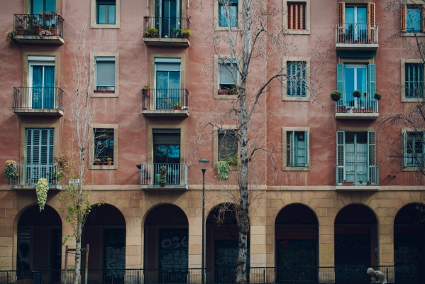 Architecture d'immeuble catalan